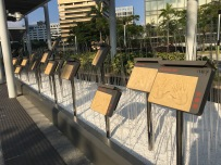 The hand prints of famous Hong Kong celebrities have been moved as well.